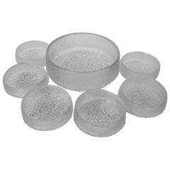 Modern Ultima Thule Tapio Wirkkala for Iittala, Finland 7 Glass Bowls