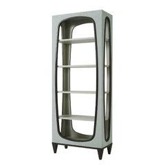 Modern Ultra-Suede Open Bookcase