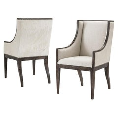 Modern Upholstered Dining Armchair