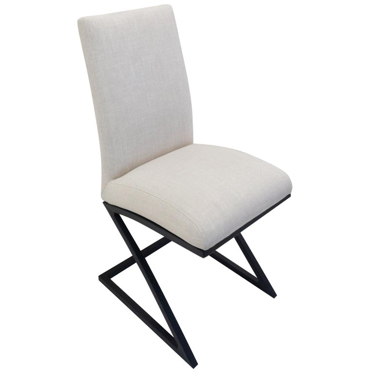 Modern Upholstered Dining Chair For Sale