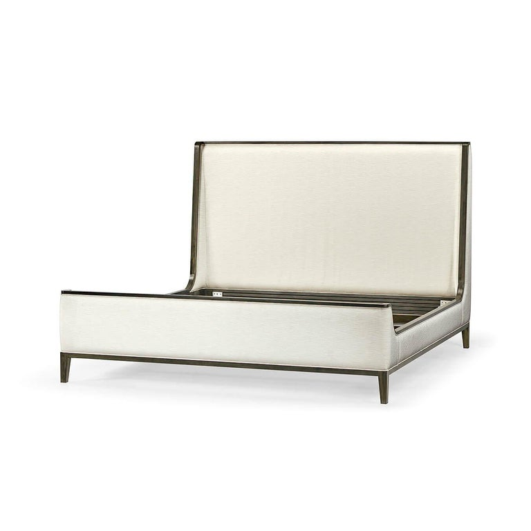 Mid-Century Modern Modern Upholstered King Size Bed For Sale