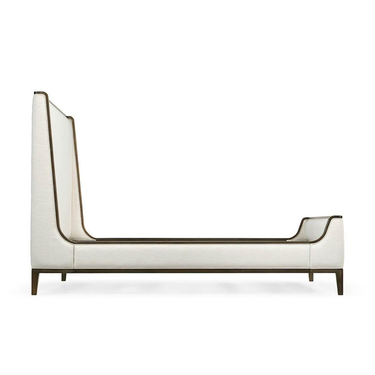 Contemporary Modern Upholstered King Size Bed For Sale