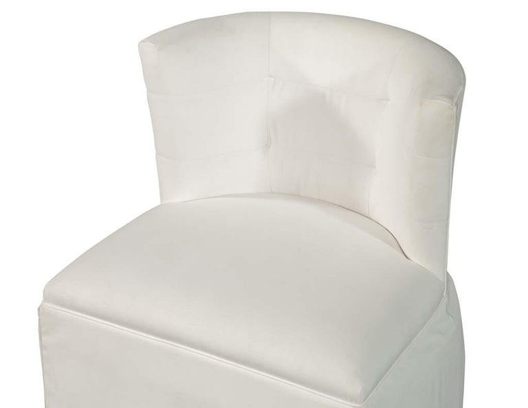 American Modern Upholstered Side Accent Chair For Sale