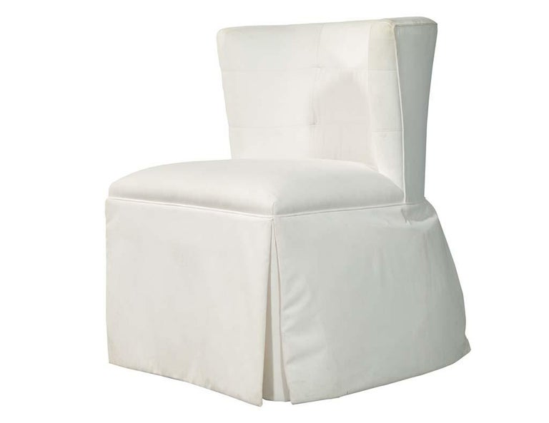Contemporary Modern Upholstered Side Accent Chair For Sale