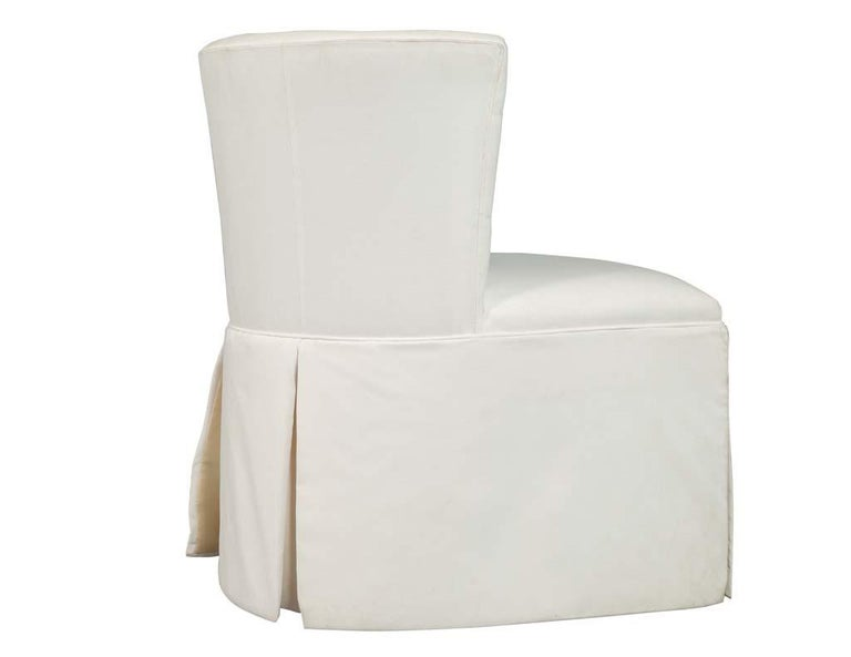 Fabric Modern Upholstered Side Accent Chair For Sale