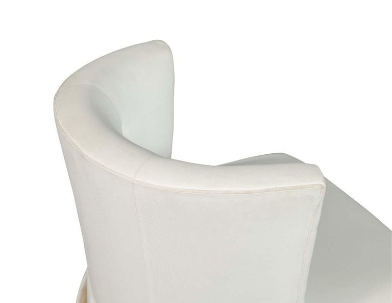 Modern Upholstered Side Accent Chair For Sale 2