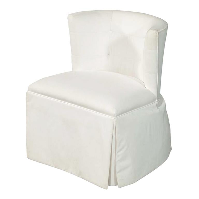 Modern Upholstered Side Accent Chair For Sale