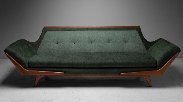 Mid-Century Modern Modern Upholstered Sofa, circa 1960