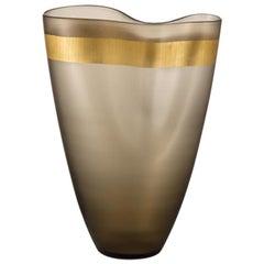 "Modern Vase in Murano's Handblown Glass ""Pizzicati"", by N. Moretti for Salviati"