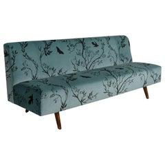 Modern Velvet Sofa, Italy, circa 1950