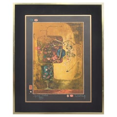Modern Vietnamese French Still Life Original Color Lithograph by HOI LEBADANG