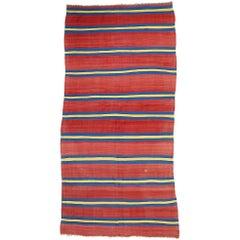 Modern Vintage Berber Moroccan Kilim Rug with Stripes