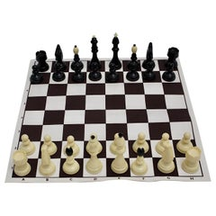 Modern Vintage Black and White Plastic Chess, 1970s, Austria