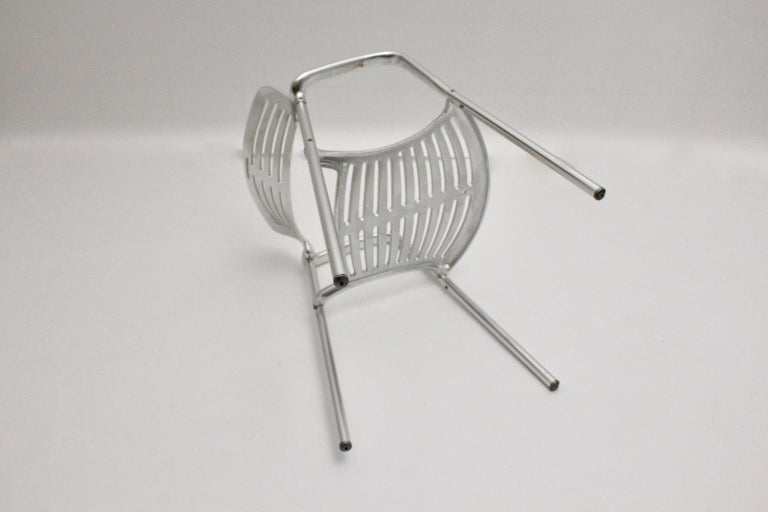 Modern Vintage Pair of Aluminum Chairs by Jorge Pensi, Spain 1986-1988 for Amat For Sale 5