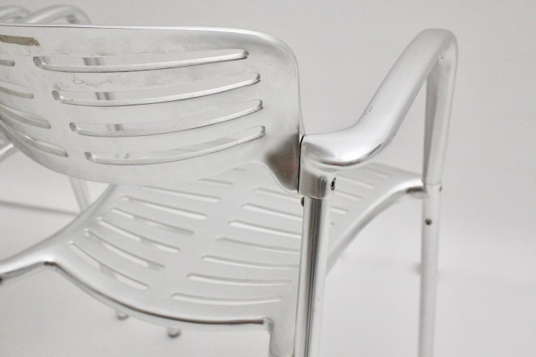 Modern Vintage Pair of Aluminum Chairs by Jorge Pensi, Spain 1986-1988 for Amat For Sale 1