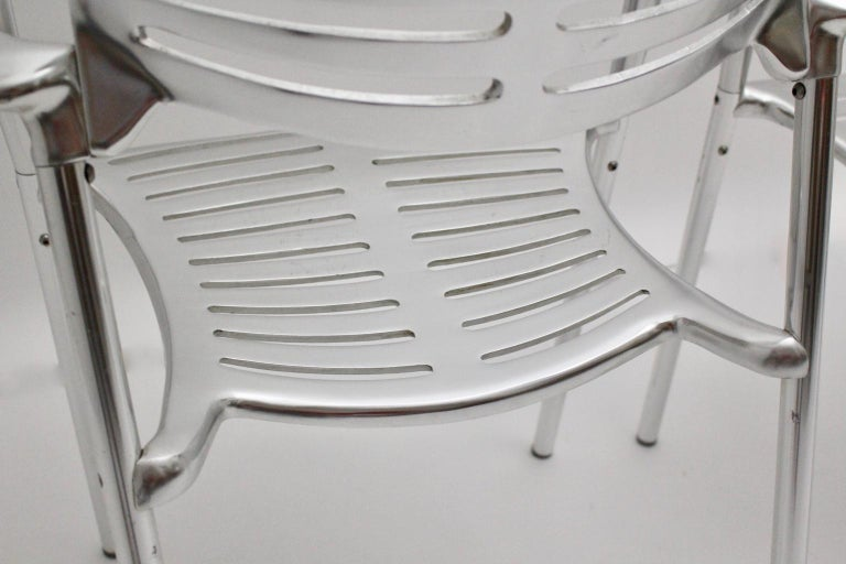 Modern Vintage Pair of Aluminum Chairs by Jorge Pensi, Spain 1986-1988 for Amat For Sale 2