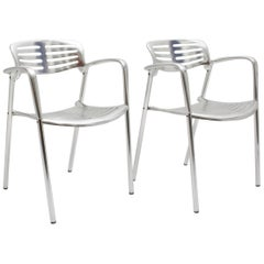 Modern Vintage Pair of Aluminum Chairs by Jorge Pensi, Spain 1986-1988 for Amat