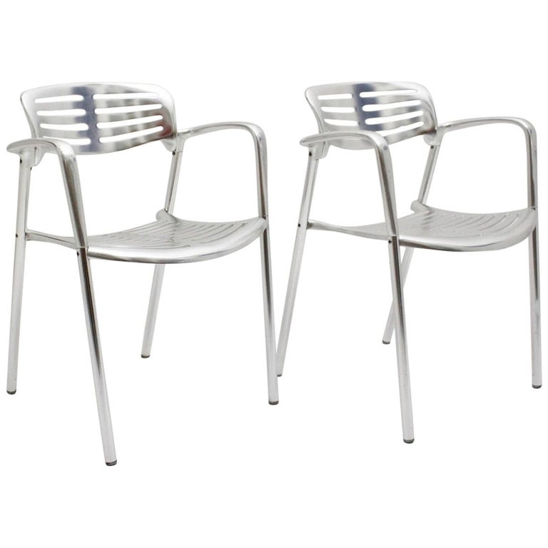 Modern Vintage Pair of Aluminum Chairs by Jorge Pensi, Spain 1986-1988 for Amat For Sale