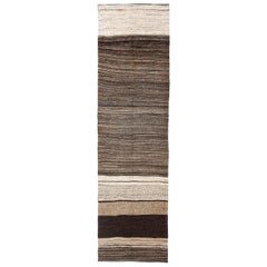 Modern Vintage Turkish Kilim Runner 'Flat-Weave'