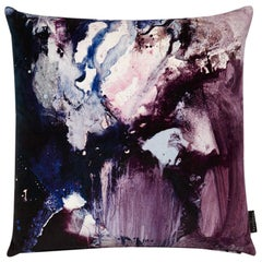 Modern Violet and Purple Cotton Velvet Cushion by 17 Patterns