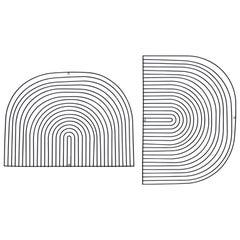 Modern Wall Art, Modular Art Piece by Bend Goods 'Round', Black