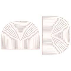 Modern Wall Art, Modular Art Piece by Bend Goods 'Round', Peachy Pink