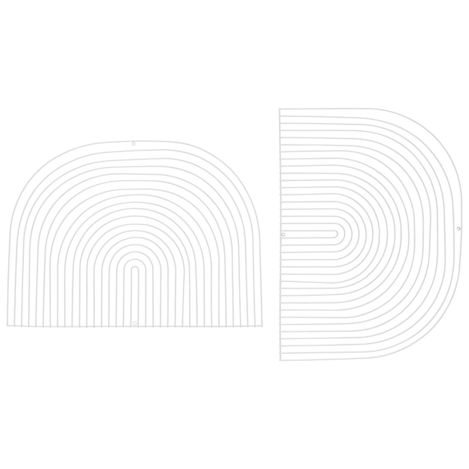 Modern Wall Art, Modular Art Piece by Bend Goods 'Round', White