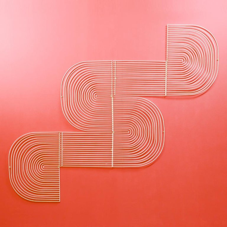 Unknown Modern Wall Art, Modular Art Piece by Bend Goods 'Straight', Gold For Sale
