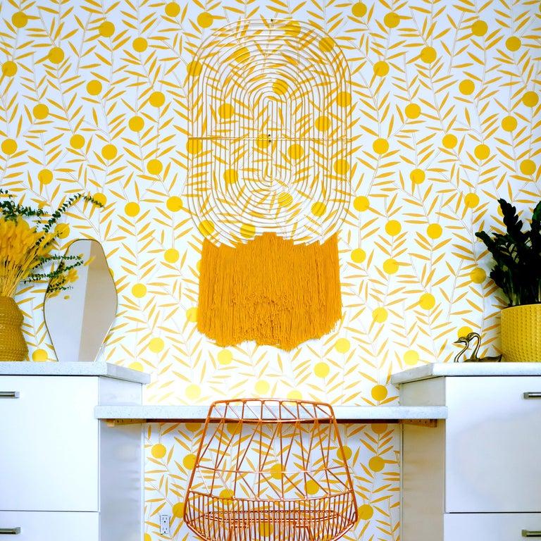 Plated Modern Wall Art, Modular Art Piece by Bend Goods 'Straight', Gold For Sale