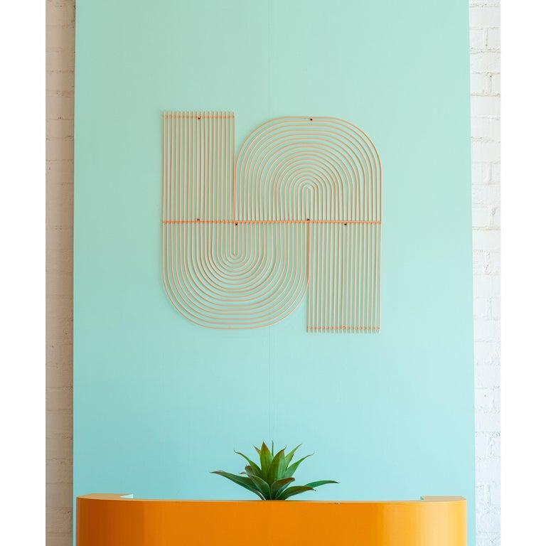 Modern Wall Art, Modular Art Piece by Bend Goods 'Straight', Gold For Sale 1