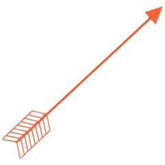 Modern Wall Decor, the Wall Arrow by Bend Goods, Orange