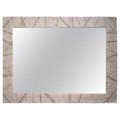 Modern Wall Mirror with Pollock Texture Frame