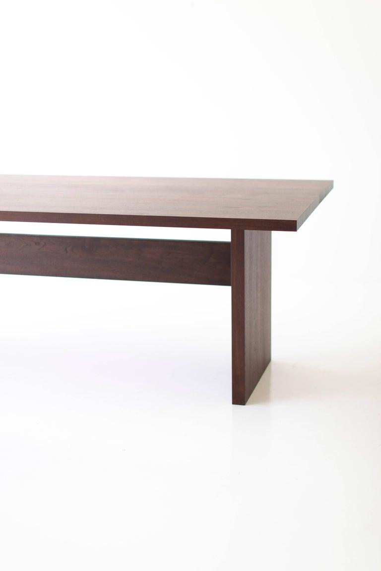 Modern walnut dining table -