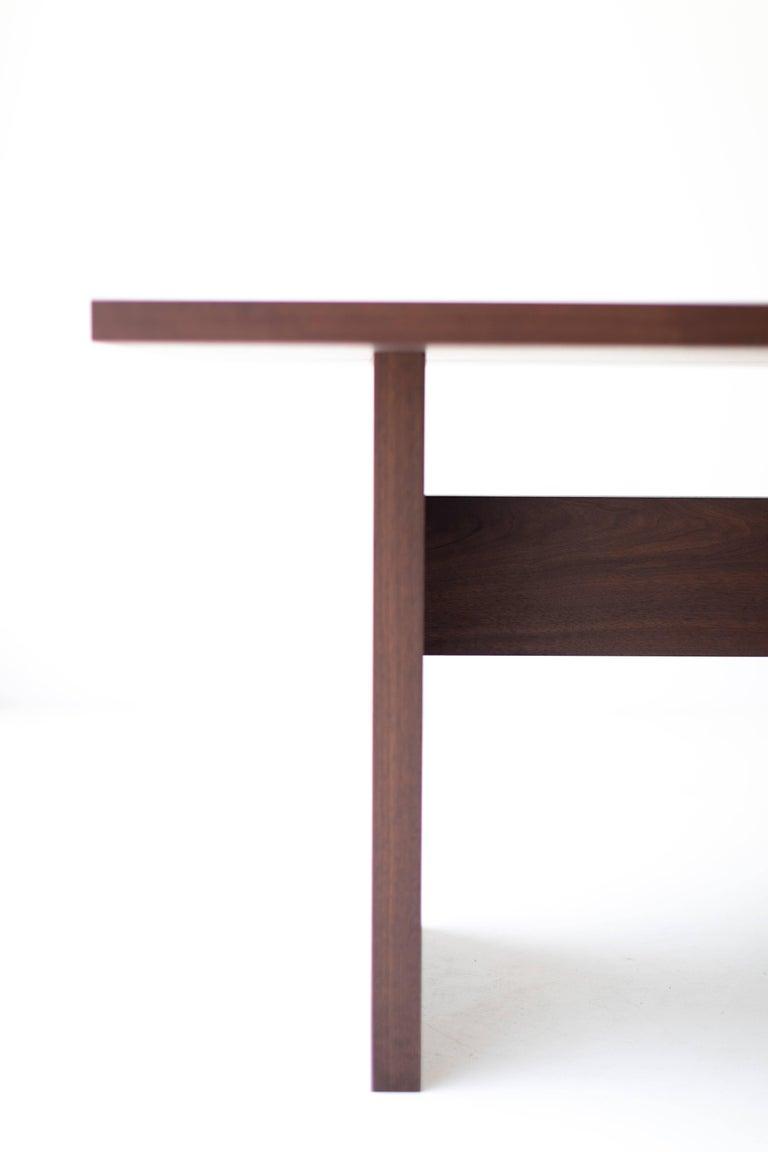 Mid-Century Modern Modern Walnut Dining Table,