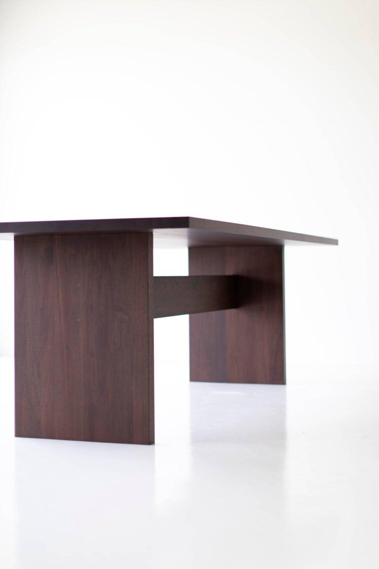 American Modern Walnut Dining Table,