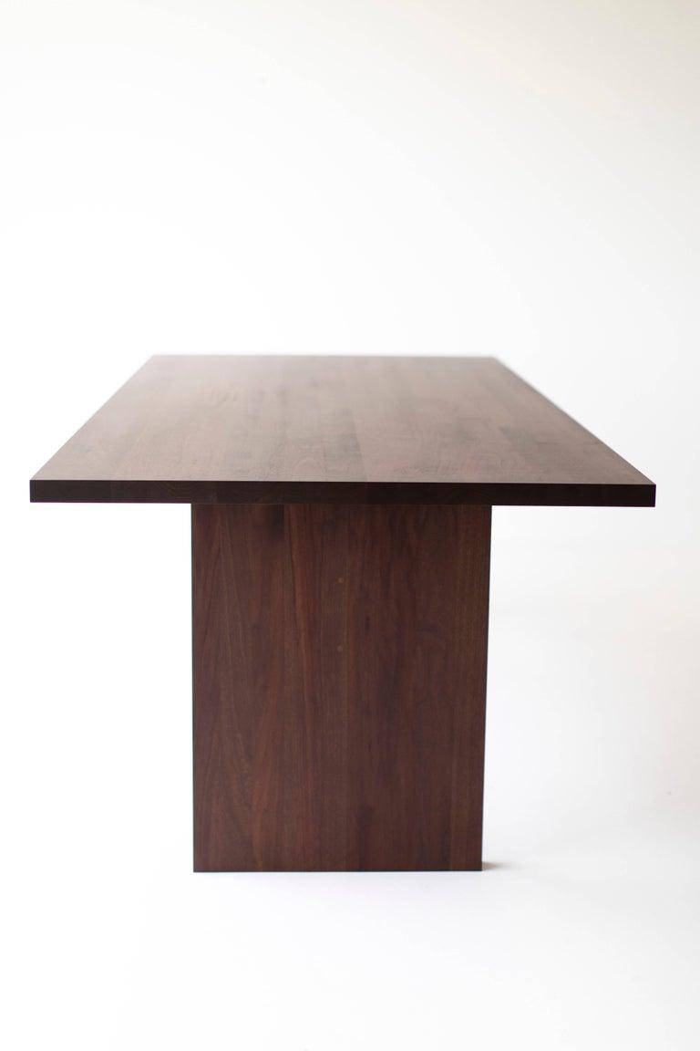 Contemporary Modern Walnut Dining Table,