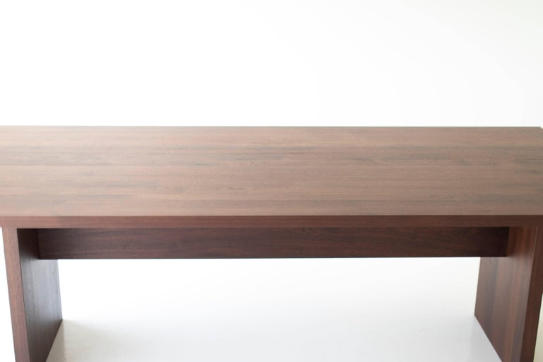 Modern Walnut Dining Table,