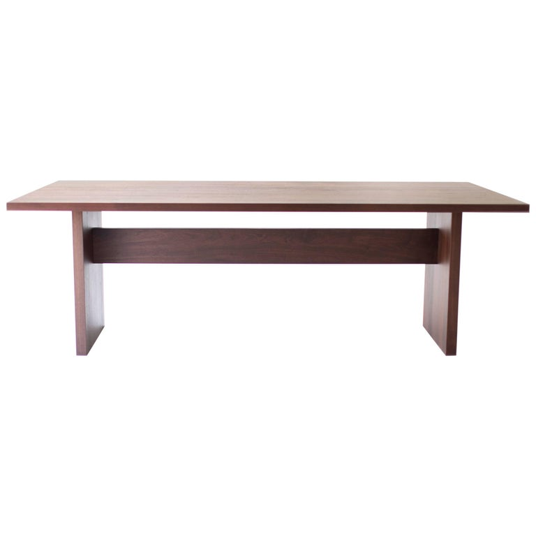 """Modern Walnut Dining Table, """"The Toko Table"""" For Sale"""