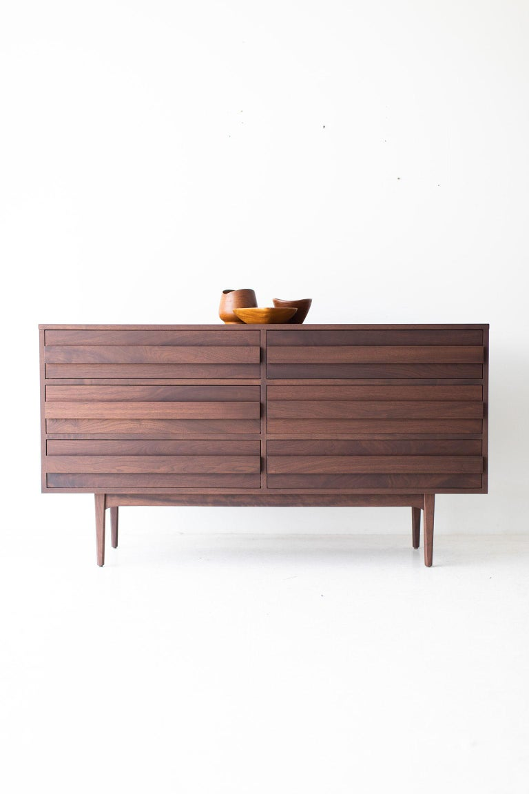 Modern Walnut Dresser For Sale 7