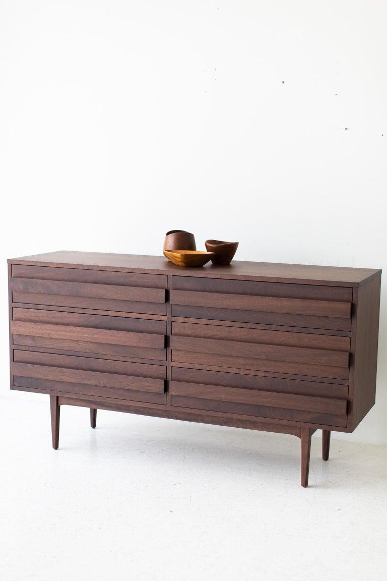 American Modern Walnut Dresser For Sale
