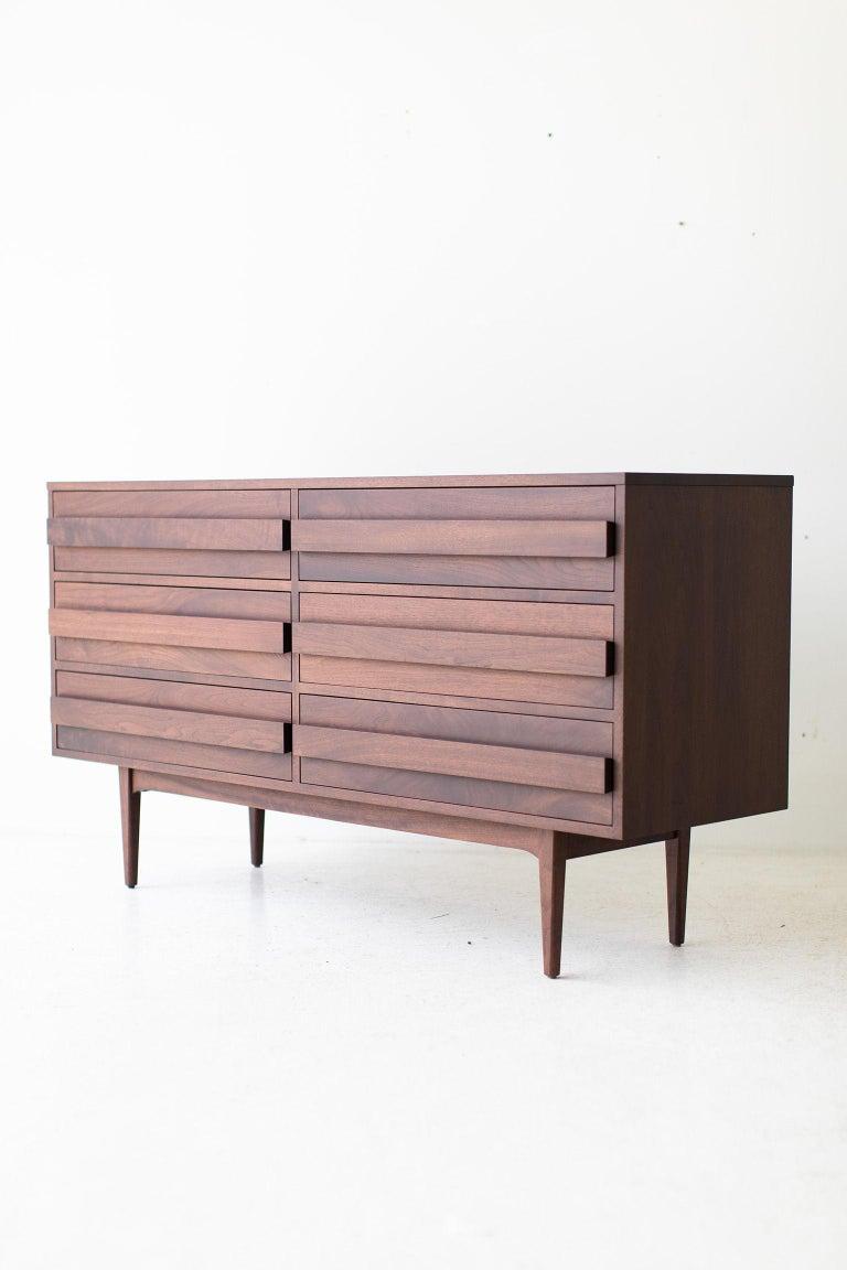 Contemporary Modern Walnut Dresser For Sale