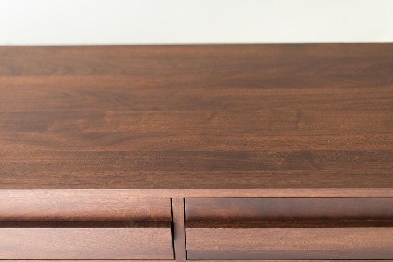 Modern Walnut Dresser For Sale 1