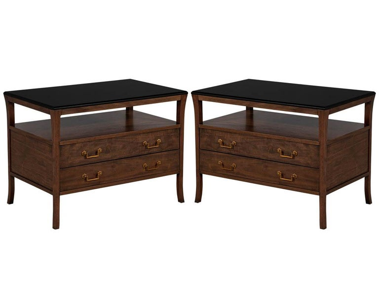 Modern Walnut End Table Chest For Sale 4