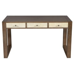 Modern Walnut Parchment Desk