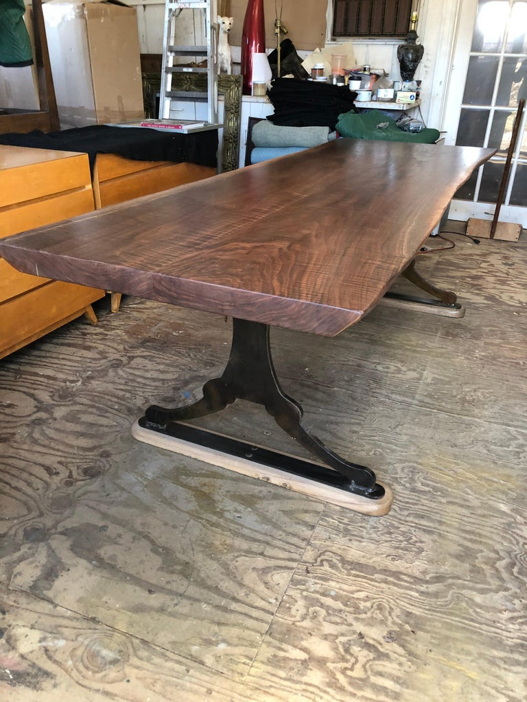 Made of highly figured black walnut with a