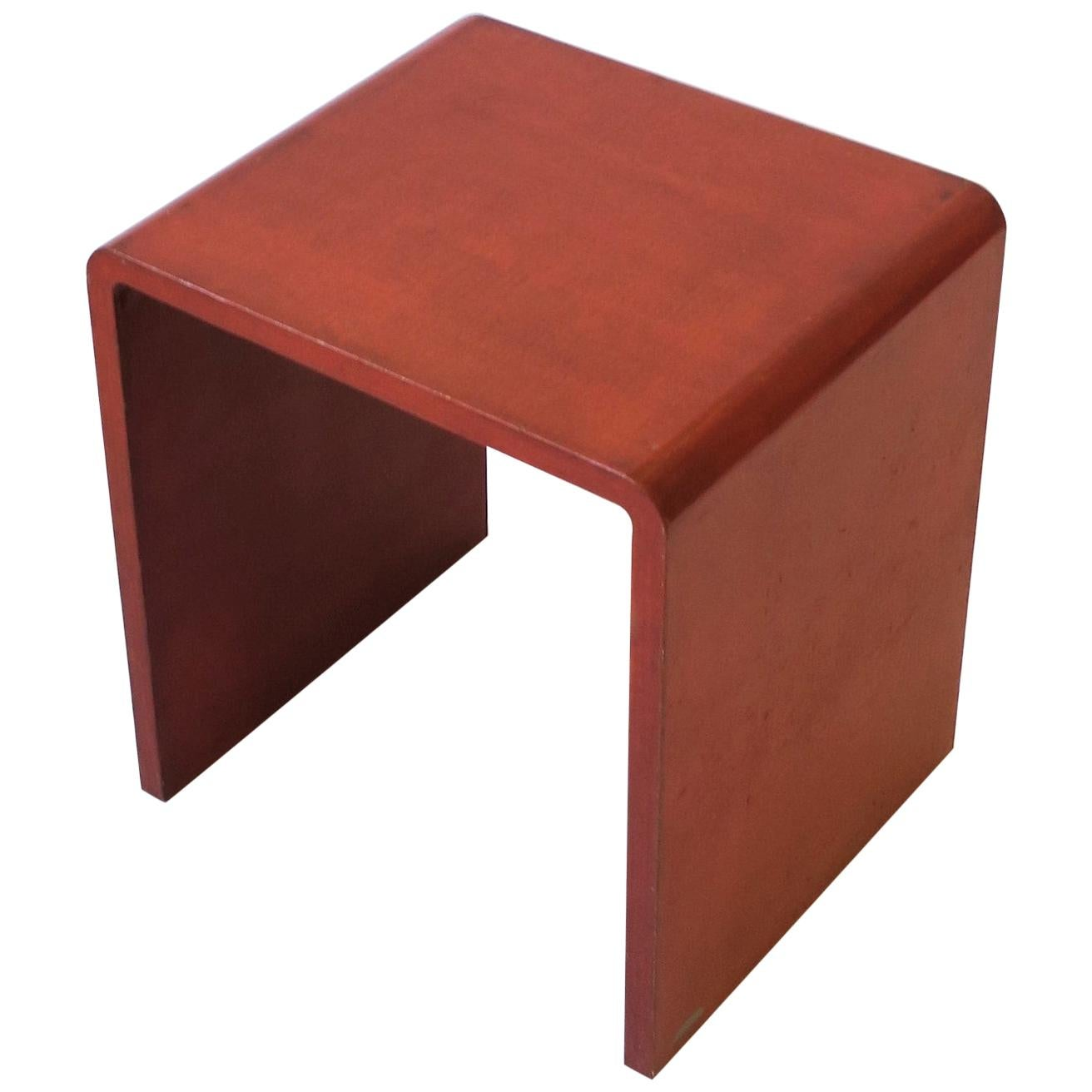Modern Waterfall Side or End Table, 1970s