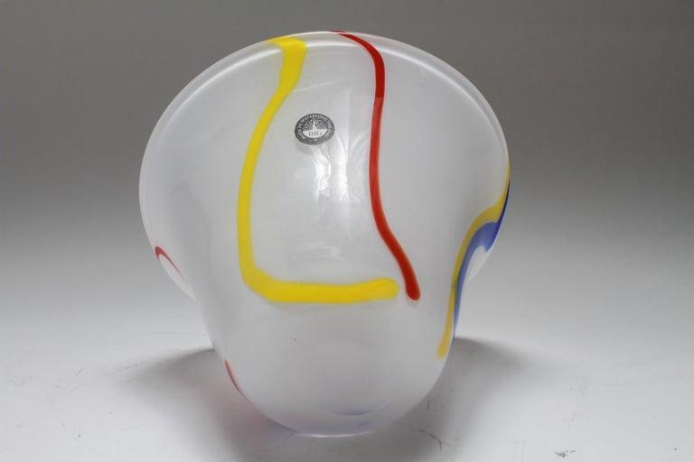20th Century Modern Waterford Irish Handmade Art Glass Bowl For Sale