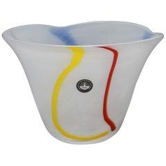 Modern Waterford Irish Handmade Art Glass Bowl