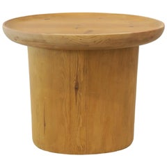 Modern Waxed Pine Oval Side Table by Martin and Brockett