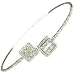 GEMOLITHOS Modern White Gold and Diamond Bracelet
